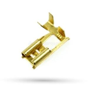 Konektor nasuwka kąt. 6,3 H2,5  - 25szt.
