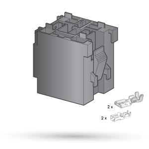 Złącze 4 krotne pod przekaźnik MAXI - 1kpl.