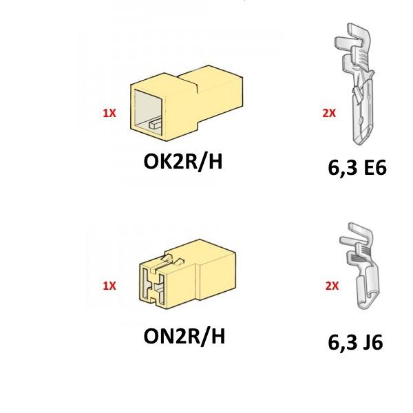 Złącze 2 krotne 140'C / 4-6mm2 - 1kpl.