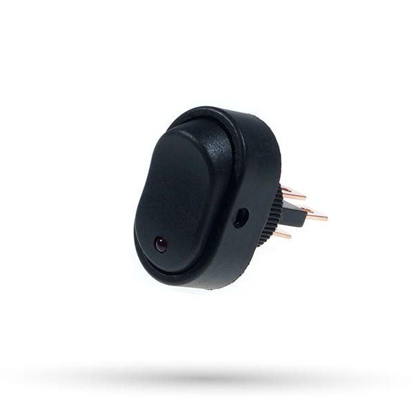 Przełącznik owalny 20A 12VDC biały