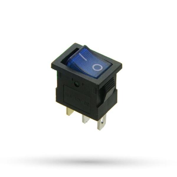 Przełącznik prostokątny 15A 12VDC niebieski