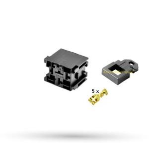 Złącze 5 polowe z uchwytem - podstawka pod przekaźnik Mini ISO - 1kpl.