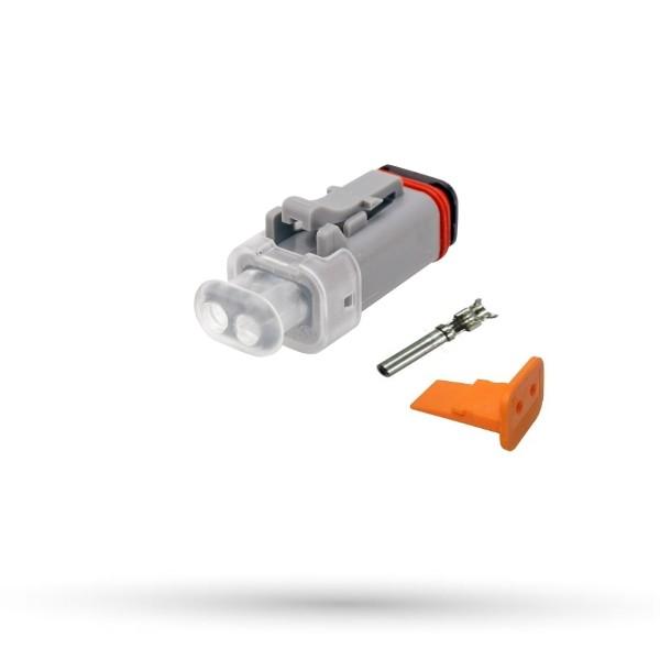Złącze wtyk 2 polowy 12V Deutsch DT z sygnalizacją LED - 1kpl.