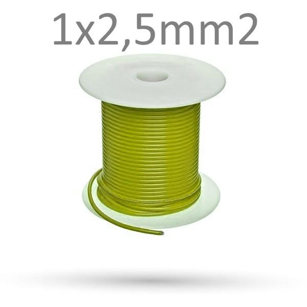 Przewód żółty LRY-B 1x2.5mm2 - 10 mb