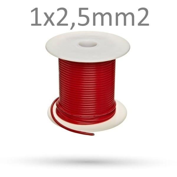 Przewód czerwony FLRY-B 1x2.5mm2 - 10 mb