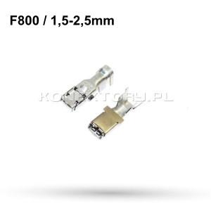 Konektor żeński F800 / 2,5mm2 - 1 szt.